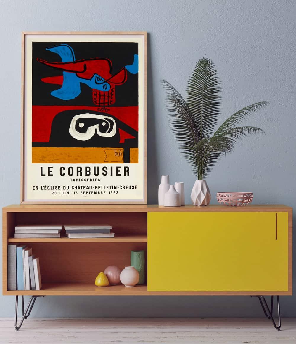 corbuiser-lithograph-framed
