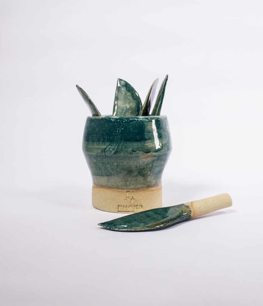 Kana Ceramics - Cheese Knife Set