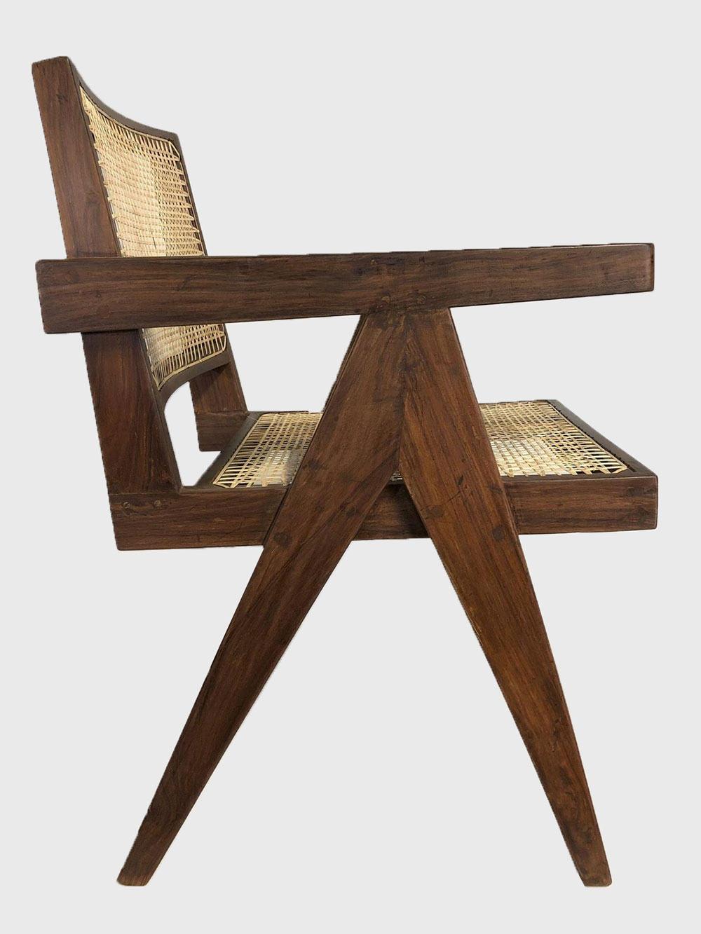 Stupendous Pierre Jeanneret Office Chair Rhoko Rare Mid Century Modern Andrewgaddart Wooden Chair Designs For Living Room Andrewgaddartcom