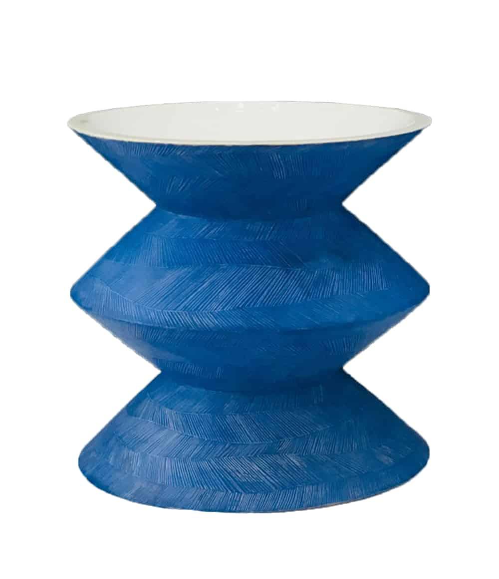 Karen Ctorza Blue Modernist Vase, Vallauris