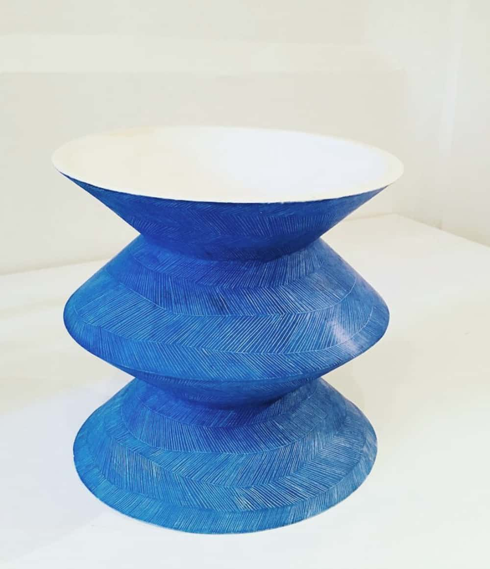 Karen Ctorza Ceramic Vase Blue