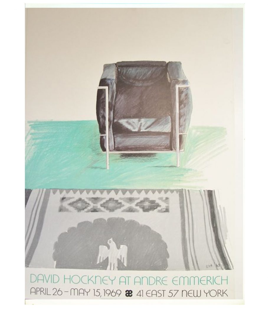 David Hockney Le Corbusier Chair and Rug