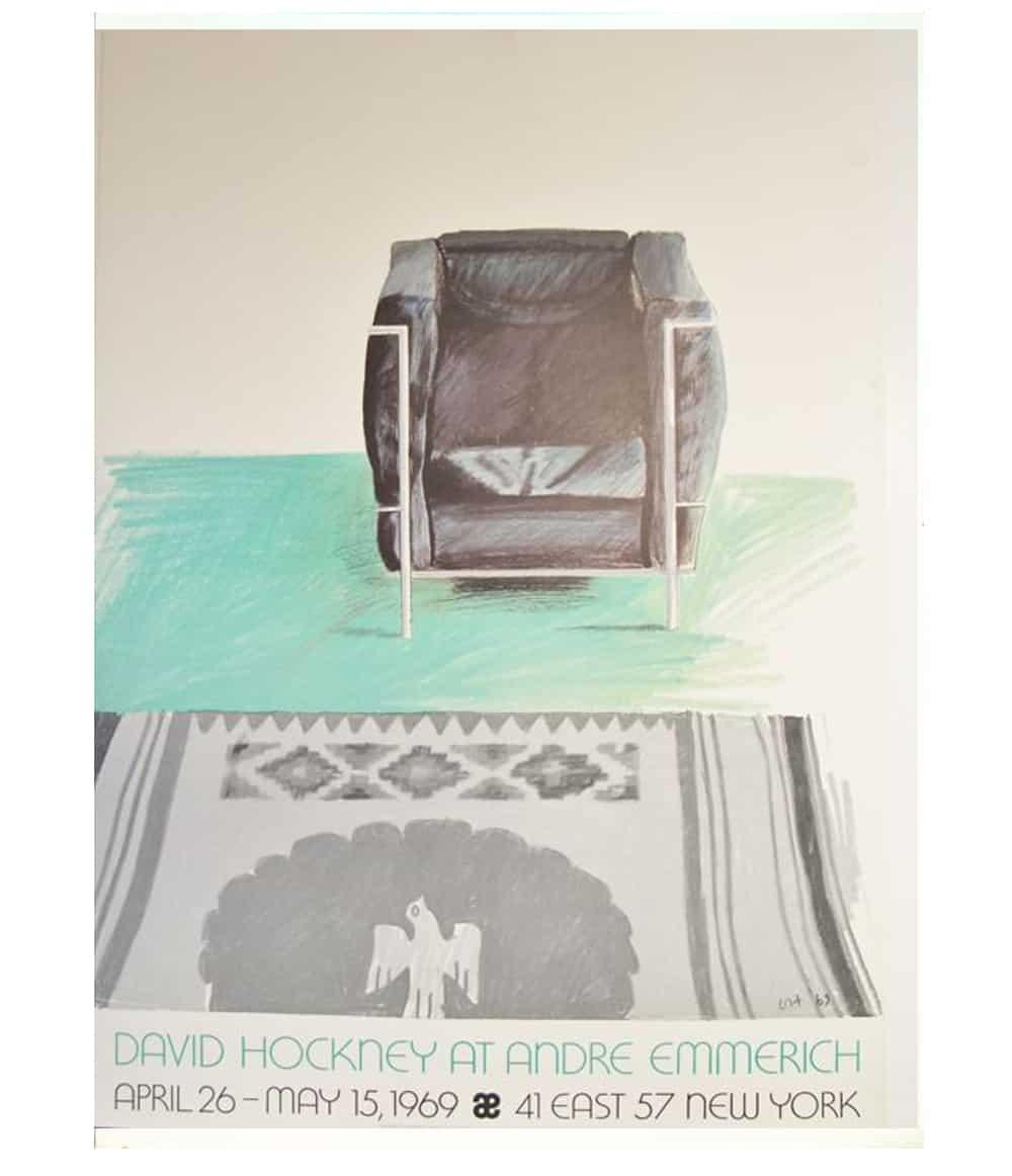 David Hockney Le Corbusier Chair and Rug
