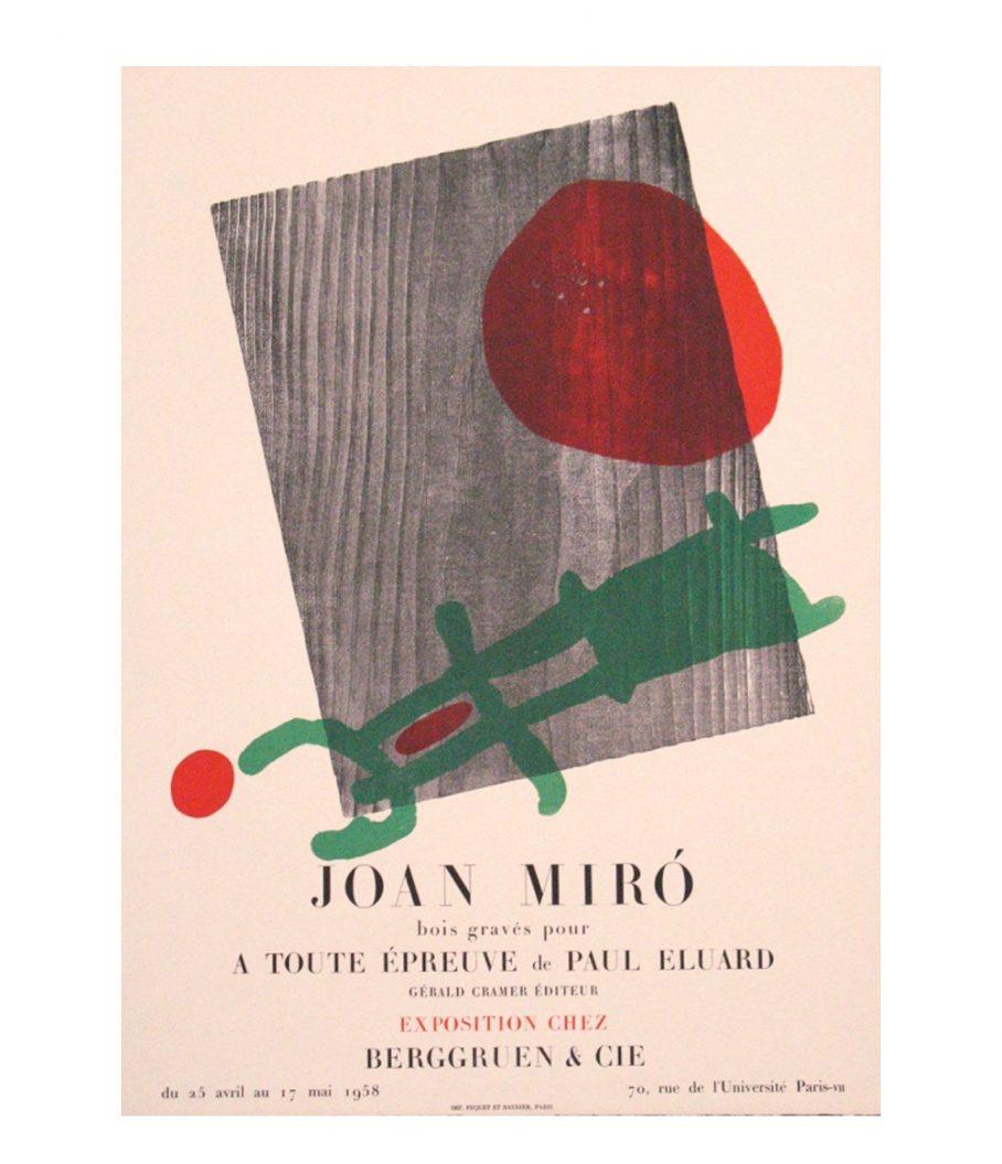 Joan Miro lithograph A Toute Epreuve
